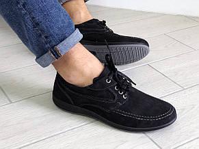 Мужские мокасины,спортивные туфли замшевые,черные Doge style, фото 3