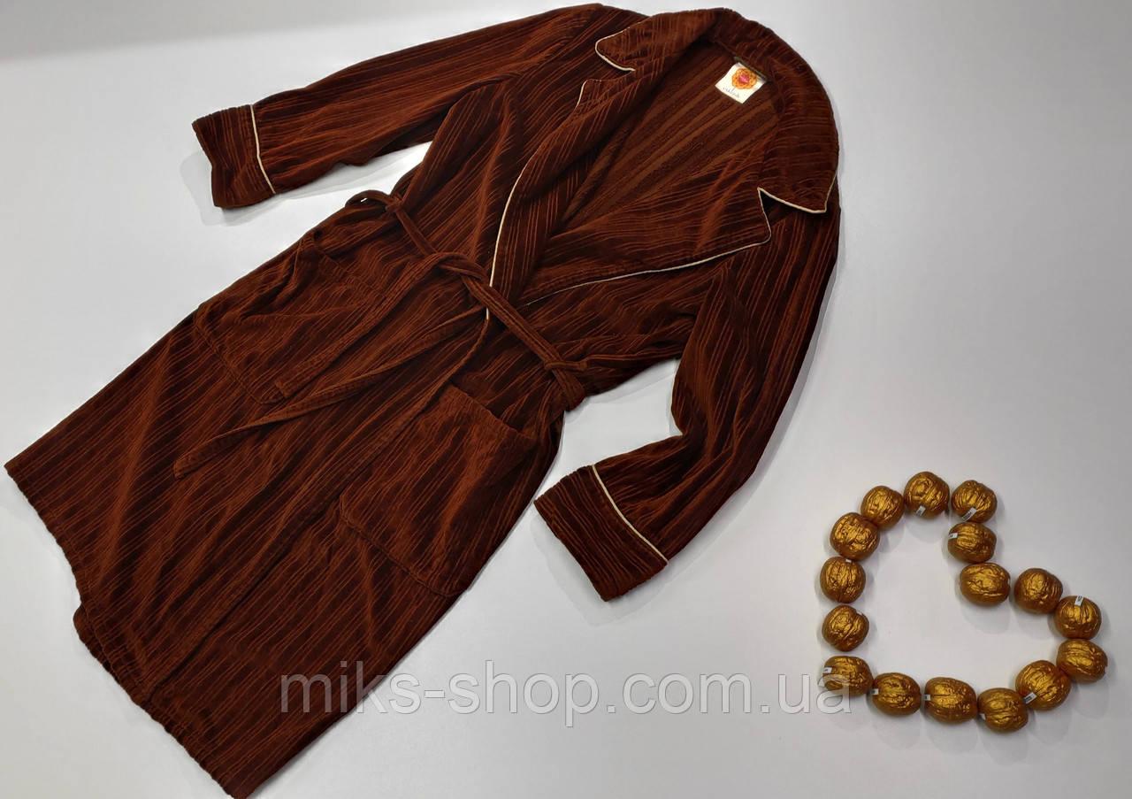 Мужской короткий халат exklusiv размер 50