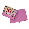 Ящик (коробка) для хранения, 25 * 35 * 20см, (хлопок), с отворотом (сказочные совы розовые / розовый), фото 3