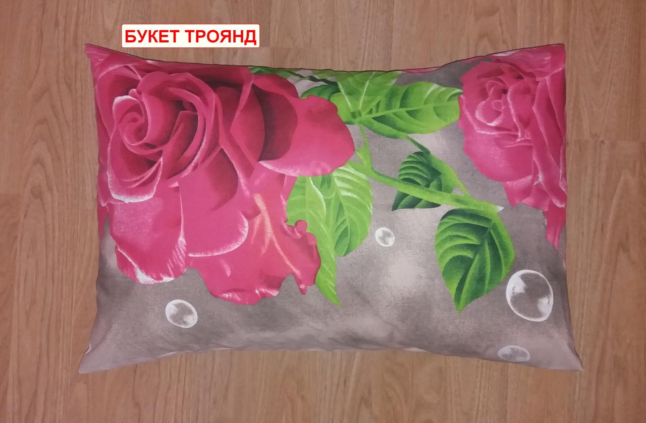 Наволочка бязь 50х70 - Букет троянд