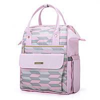 Сумка-рюкзак для мамы Mommore Розовый KD-0090211A012, КОД: 355152