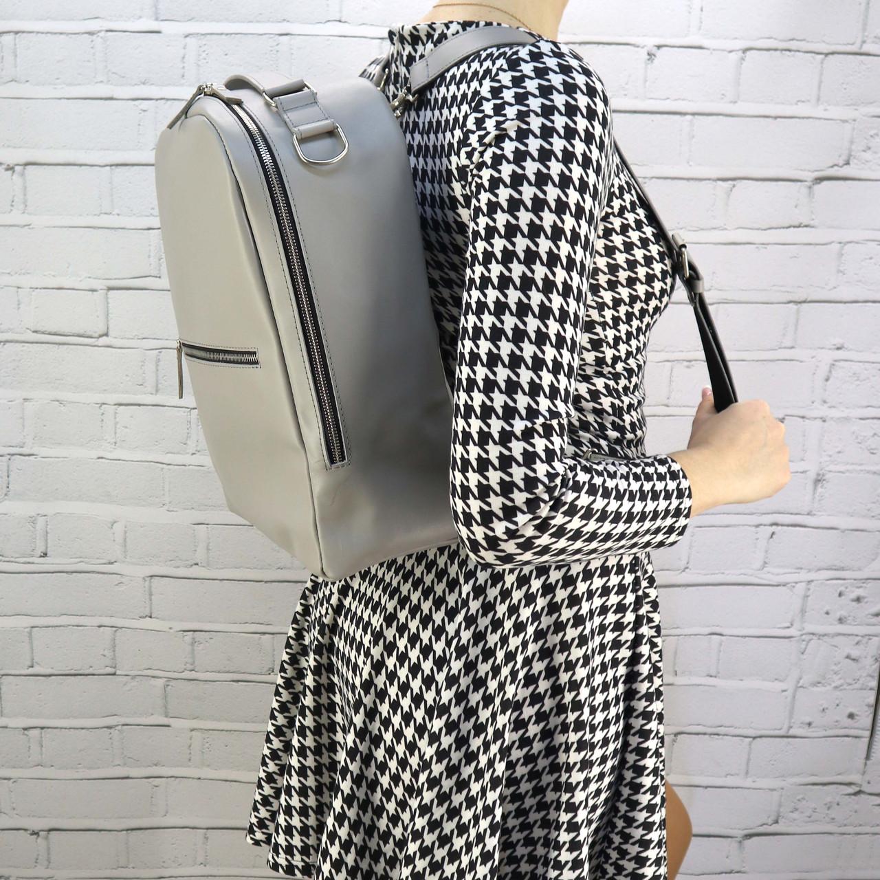 Рюкзак Mihey piton big серый из натуральной кожи kapri 1320602