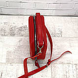 Сумка kvadrat красная из натуральной кожи kapri, фото 4