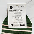 Носки женские Житомир 🐼 в зелёную полоску размер 35-40, фото 4