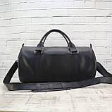 Дорожная сумка tube mini синий из натуральной кожи kapri, фото 3