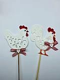 Курочка с петушком на палочках, Пасхальный декор ОПТ/Розница, фото 4