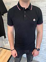 Мужское поло moncler , MONCLER рубашка-поло с логотипом