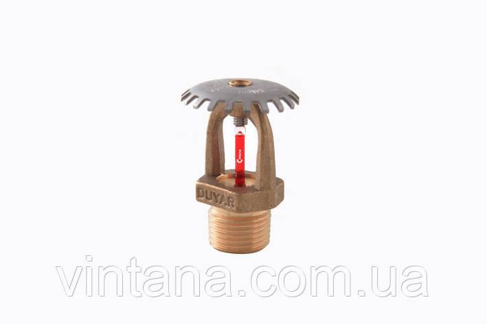 Спринклер пожарный Duyar (Турция), розеткой вверх, быстрого срабатывания, латунь, фото 2
