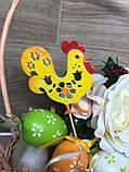 Курочка з півником на паличках, Великодній декор ОПТ/Роздріб, фото 8
