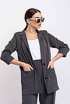 Легкий стильный удлиненный женский жакет свободного силуэта (Криспи ri), фото 2