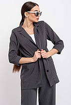 Легкий стильный удлиненный женский жакет свободного силуэта (Криспи ri), фото 3
