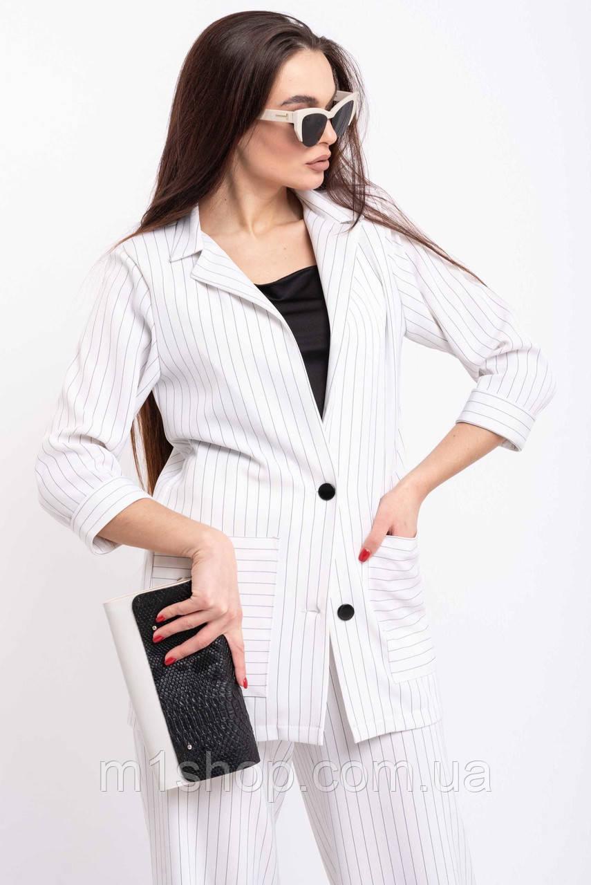Легкий стильный удлиненный женский жакет свободного силуэта (Криспи ri)