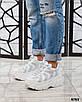 Стильные женские кроссовки кожаные белые, фото 3