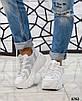 Стильные женские кроссовки кожаные белые, фото 2