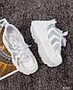 Стильные женские кроссовки кожаные белые, фото 8