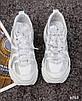 Стильные женские кроссовки кожаные белые, фото 7