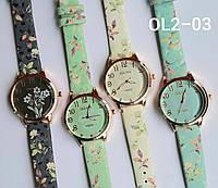 Женские наручные часы классические Qulijia OL2-03 c белым ремешком