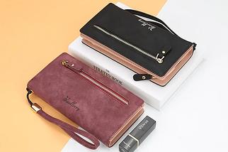 Женский клатч,портмоне,кошелек Baellerry малиновый