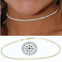 Богемное изысканное Колье кристаллы Чокер на шею широкий ошейник стразы Шарм кольэ ожерелье