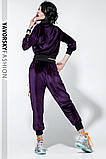 Спортивный молодежный костюм  размеры: S/M, L/X Lцвет фиолетовый с черным, фото 6