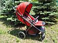 Дитяча прогулянкова коляска Babyzz B100 (червоний колір) + безкоштовна доставка, фото 10