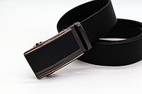 Кожаный  ремень для мужчин (автоматический черный под джинсы,брюки) классика