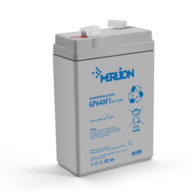 Аккумуляторная батарея Merlion AGM GP645F1 6V 4.5Ah