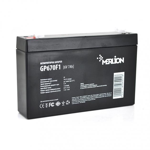 Аккумуляторная батарея Merlion AGM GP670F1 6V 7Ah