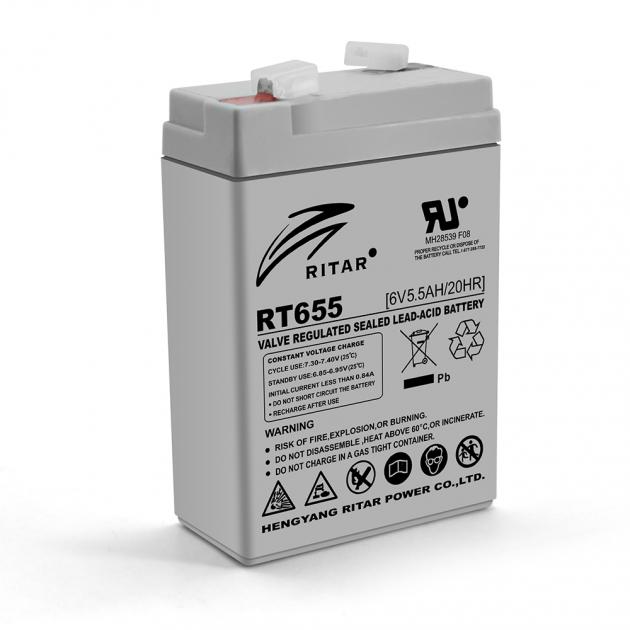 Аккумуляторная батарея AGM Ritar RT655 6V 5.5Ah