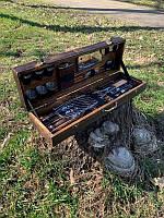 """Набор шампуров """"Леопард"""" Gorillas BBQ в деревянной коробке"""