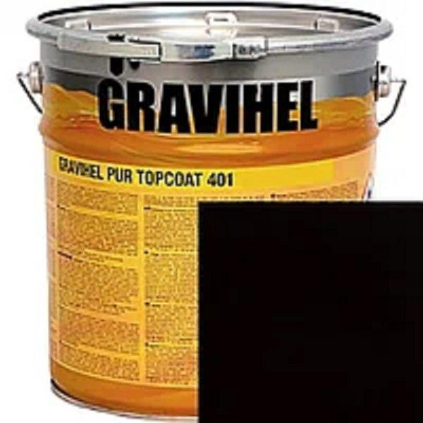 601 ЧЁРНАЯ GRAVIHEL полиуретановая эмаль 402-002 полуматовая 1л