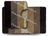 Набор акриловых ковриков для вванной комнаты ColorLine New 60х100 см + 50х60 см коричневый