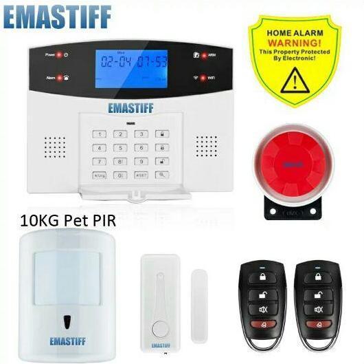 Emastiff G2BW Wi Fi GSM PSTN домашняя охранная беспроводная сигнализация.