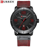 Часы CURREN 8327 Black Red 47mm (Quartz).