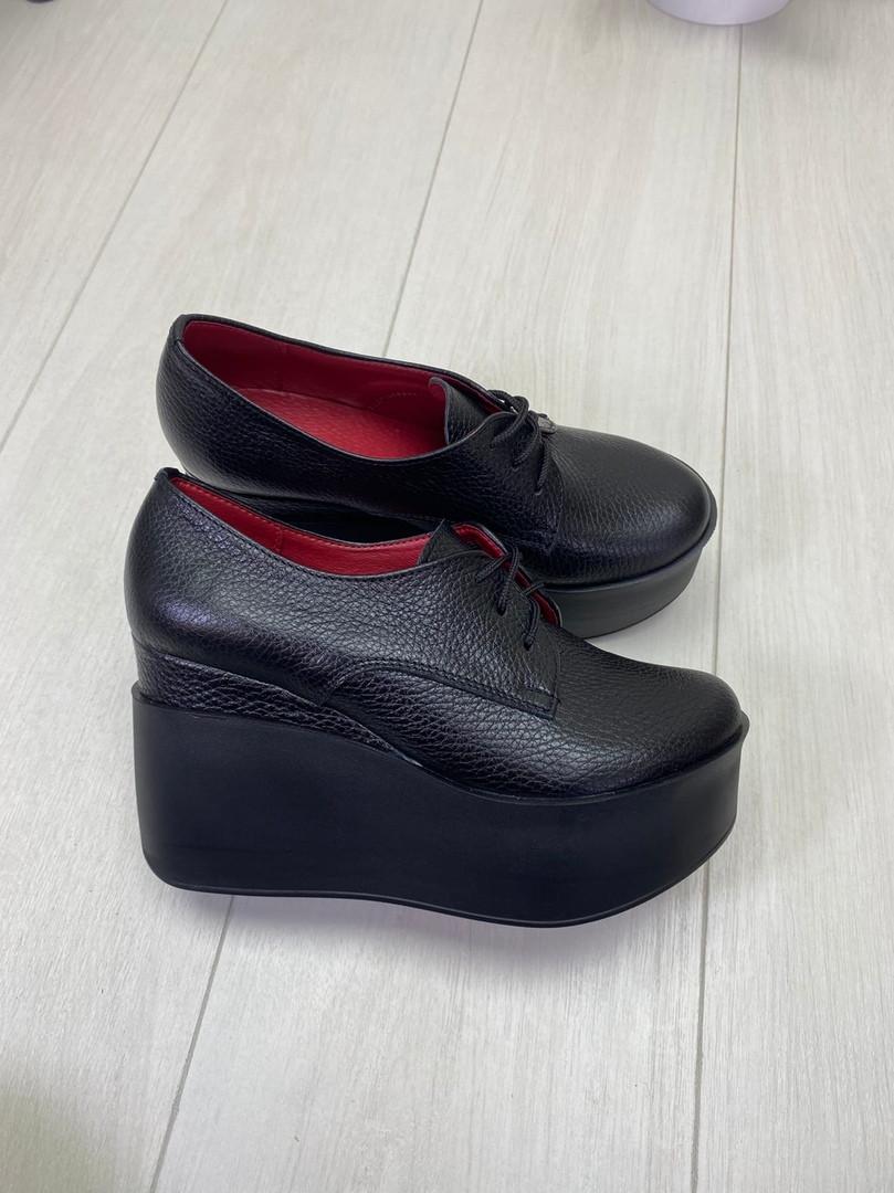 38 р. Туфли женские черные кожаные, из натуральной кожи, натуральная кожа