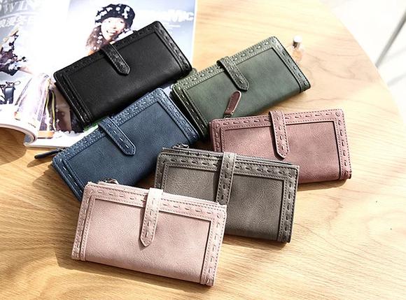 Женский кошелек,портмане Baellerry Binding(черний,пудра), фото 2