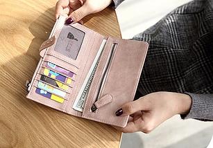 Женский кошелек,портмане Baellerry Binding(черний,пудра), фото 3
