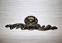 Кнопка мебельная на фигурной планке, фото 1