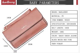 Жіночий гаманець-міні сумочка Baellerry (всі кольори, крім чорного), фото 3