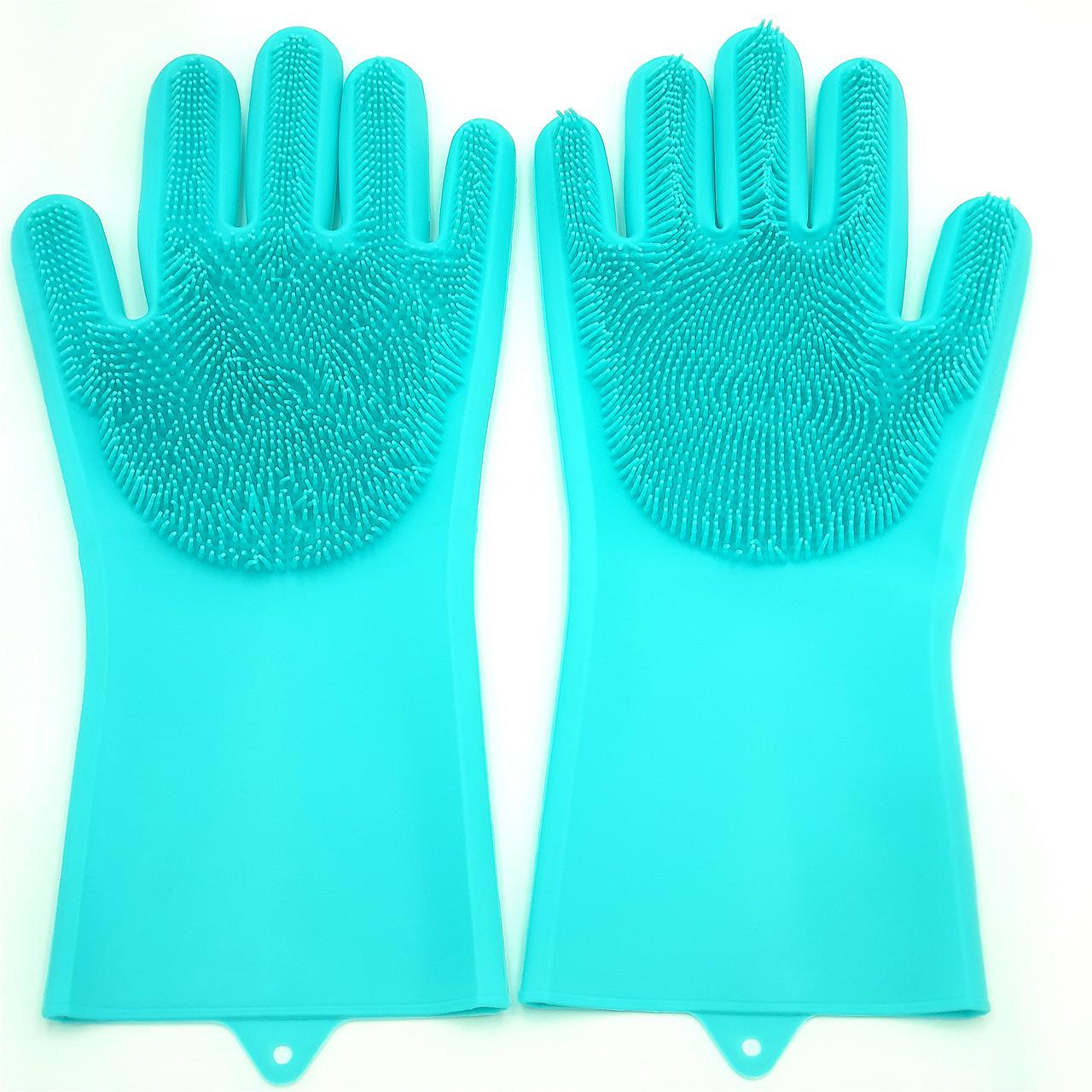 Силиконовые перчатки для мытья посуды Super Gloves (в коробке)