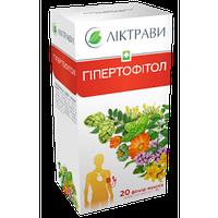 Гипертофитол - для сердечно-сосудистой и нервной систем, и повышенного артериального давления, пак. 1.5г №20