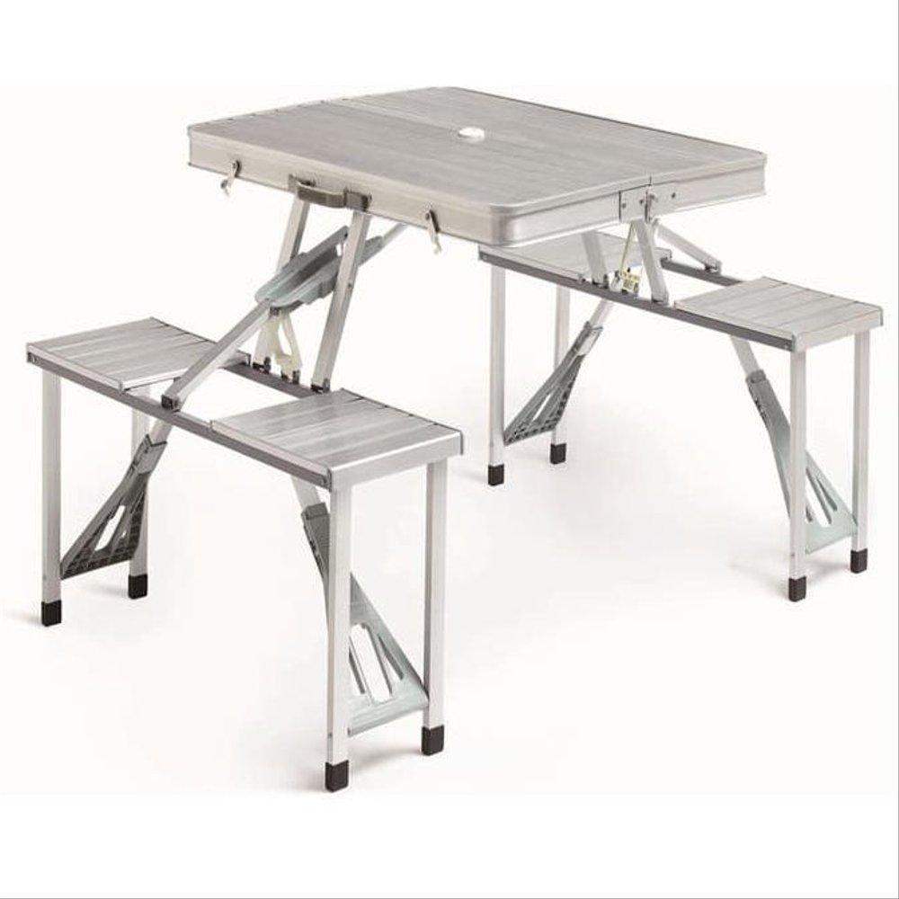 Алюминиевый раскладной стол для пикника с стульями