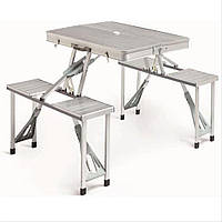 Алюминиевый раскладной стол для пикника с стульями, фото 1