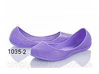 Фиолетовые резиновые балетки,для моря,бассейна и не только, фото 1