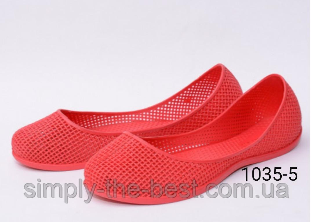 Красные  силиконовые балетки,для моря,бассейна и не только