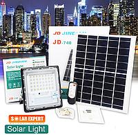 Прожектор Jindian JD-740 40W, IP67, солнечная батарея, пульт ДУ, встроенный аккумулятор, таймер, фото 1