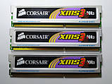Комплект оперативной памяти Corsair XMS3 DDR3 6Gb (3*2Gb) 1333MHz PC3-10600 (TR3X6G1333C9) Б/У, фото 3