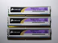 Комплект оперативной памяти Corsair XMS3 DDR3 6Gb (3*2Gb) 1333MHz PC3-10600 (TR3X6G1333C9) Б/У, фото 1