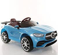Детский легковой электромобиль Tilly Mercedes (голубой цвет) с пультом ДУ