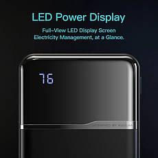 Оригінальний Power Bank KUULAA KL-YD01 10000 маг з LED індикацією Black, фото 3